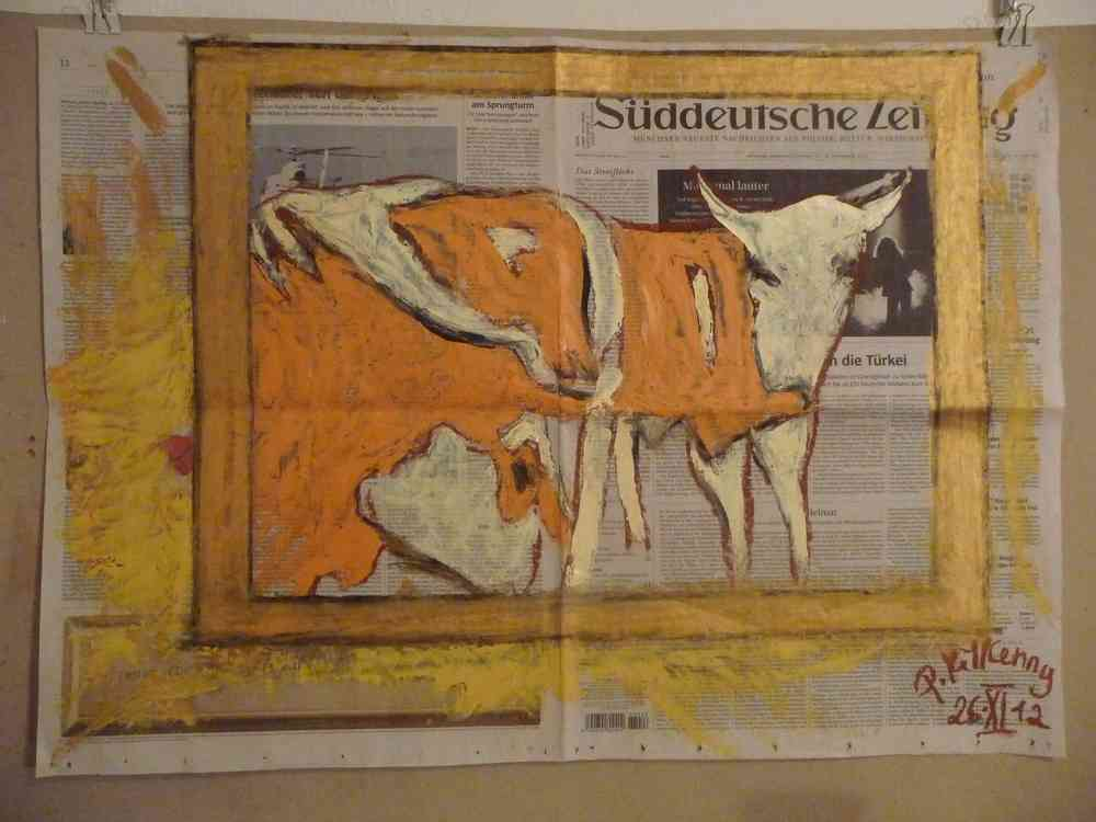 I May Never Have The Chance Again To Call A Cow Painting Led Zep